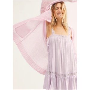 NWT Free People Sweet Thing Lavender Tunic Dress